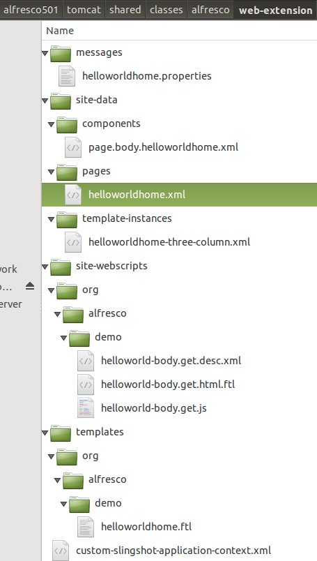 dev-extensions-share-surf-page-helloworld-involvedfiles